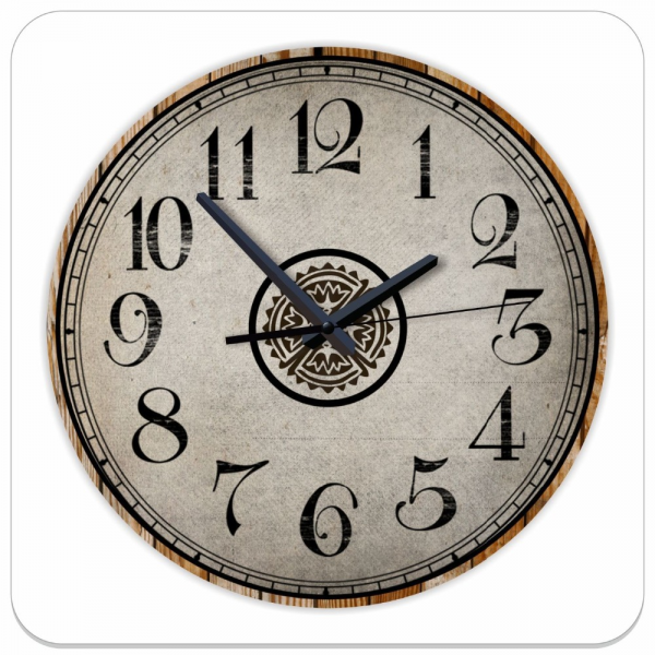 .com : Buy 12 inch absolutely silent quartz wall clock vintage retro ...