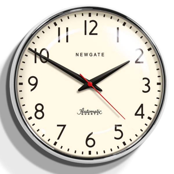 ... here: Home Home Accessories Clocks Chrome Retro Wall Clock - Watford