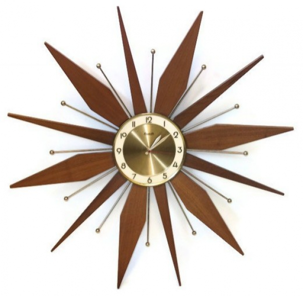 Vintage Starburst Wall Clock By Retro Classics eclectic-wall-clocks