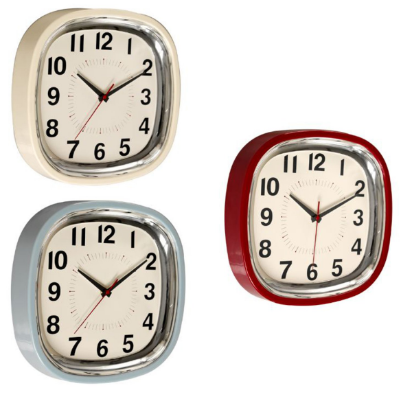 ... about 1950's Vintage Retro Kitsch Kitchen Refectory Diner Wall Clock
