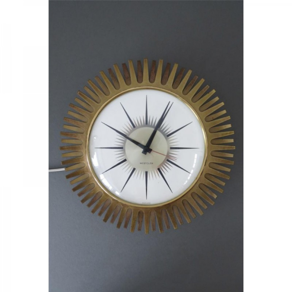 Home / Vintage Retro Starburst Westclox Electric Mains Wall Clock
