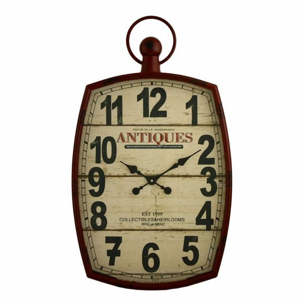 Aspire Annalise Pocket Watch Wall Clock, Red