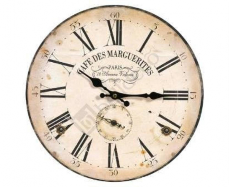 Details about Wooden Rustic Look Retro Vintage Style Wall Clock Shabby ...
