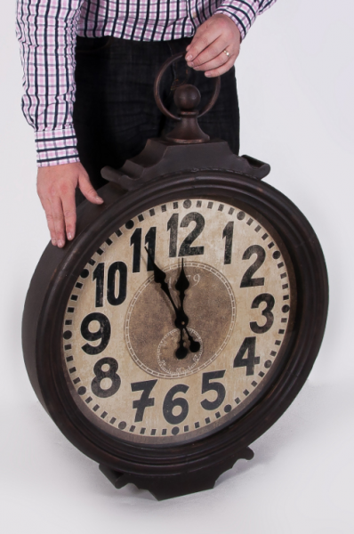Glenbrook Vintage Style Wall Clock | Black Country Metal Works