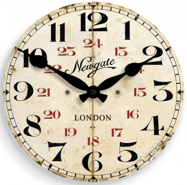 Clocks : Retro / Vintage Wall Clocks : Vintage Style Wall Clock ...