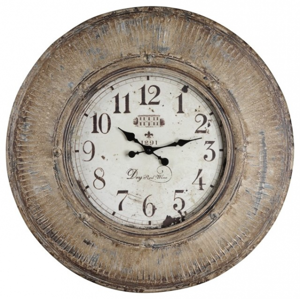 ... Distressed Oversized Wall Clock is a perfect cho traditional-clocks