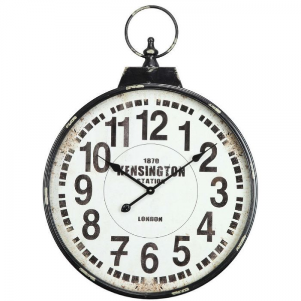 Wall Clock Large Decorative Pocket Watch Design Oversized Distressed ...
