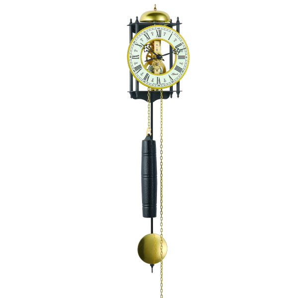 Hermle Worcester Mechanical Pendulum Wall Clock - Wrought Iron ...