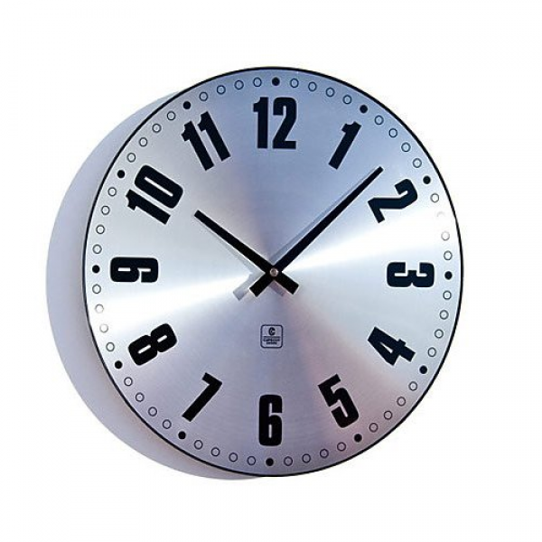 Cupecoy Design Modern Metal Wall Clock with Aluminum Dial & Dome Glass
