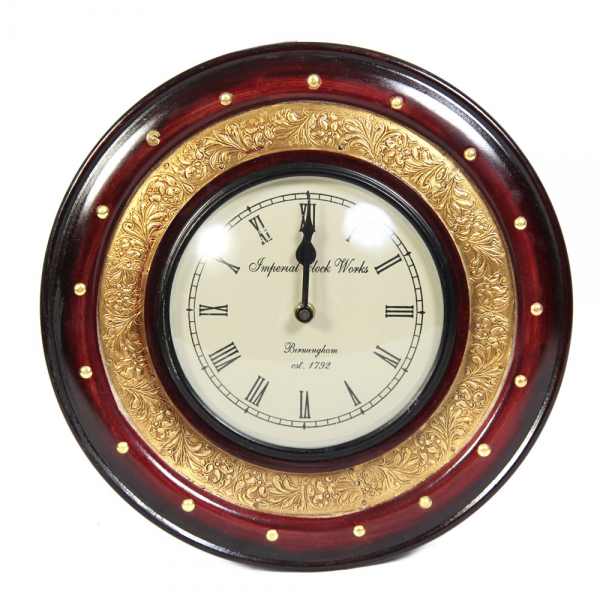 and brass round wall clock 4 5 of 177 reviews write a review the clock ...