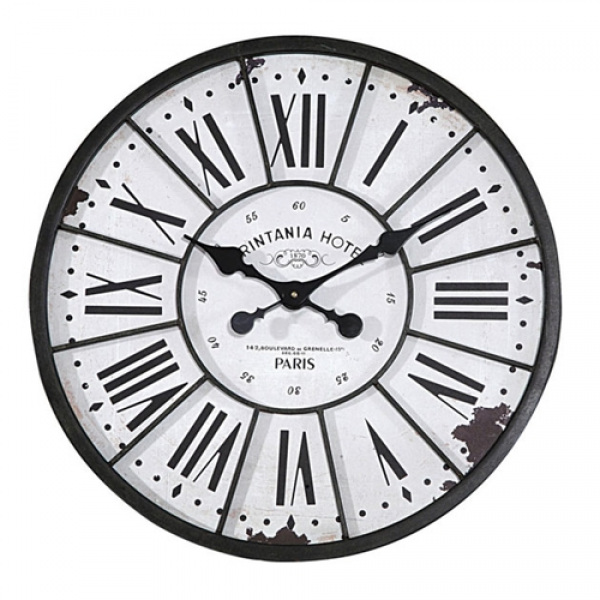 Creative Co-op | Antique Paris Wall Clock DE1176 | Wall Clock