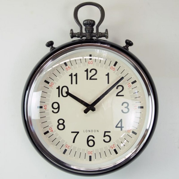 Details about Creative Co-Op Metal Wall Pocket Watch Clock