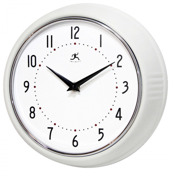 ... Instruments Retro White Wall Clock - Modern - Clocks - by Pure Home