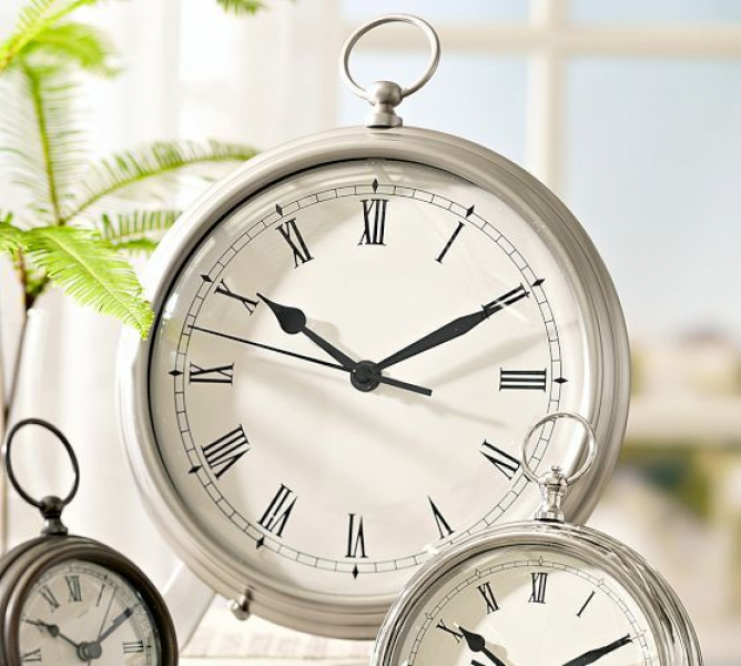 Pocket Watch Clock | Pottery Barn large pewter...or something similar