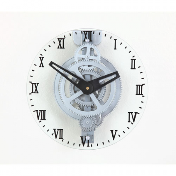 Moving Gear Wall Clock Large Gear With Glass Cover Maple S Clock Wall ...