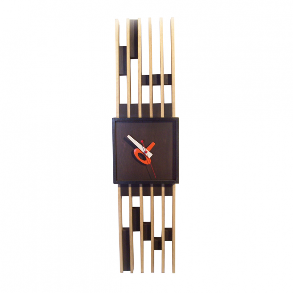 Mid-Century Wooden Bar Wall Clock