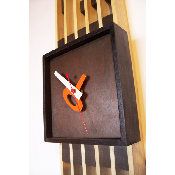 Mid-Century Wooden Bar Wall Clock - Dot & Bo