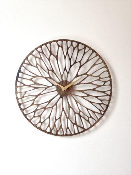 ... Clock. Mid Century Modern, Laser Cut, Wood, Wall, Art, Decor, Clock