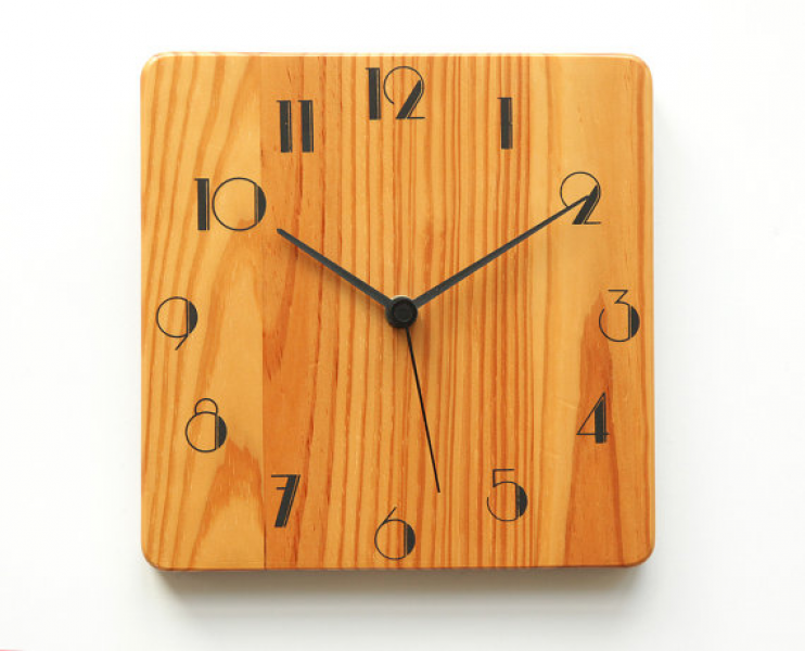 Mid Century wood Wall CLOCK with JUNGHANS W737 - Danish Scandinavian ...