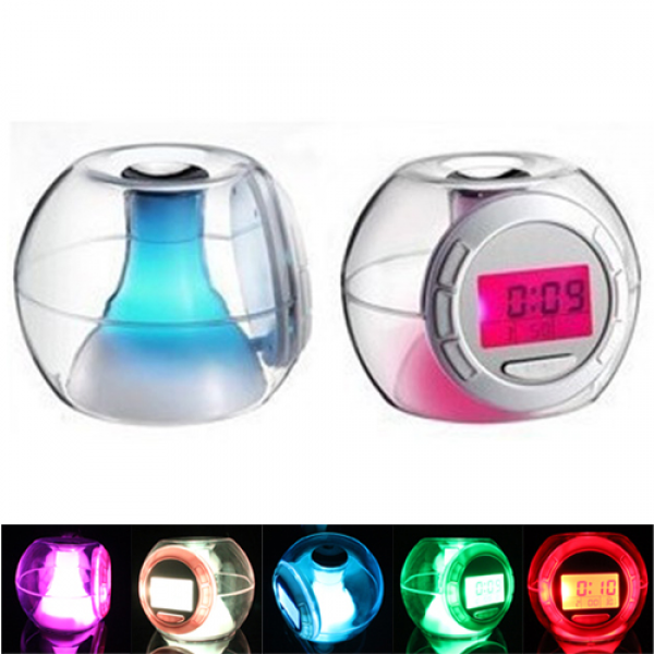 Color Switching/Changing Light Alarm Clock with Nature Sound