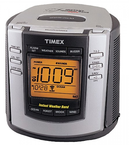 Buy Timex T150G Weather Alarm Clock (NOAA Instant Weather Band,Nature ...