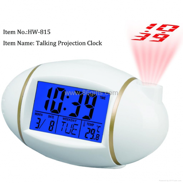 Nature sound Projection alarm clock HW-815
