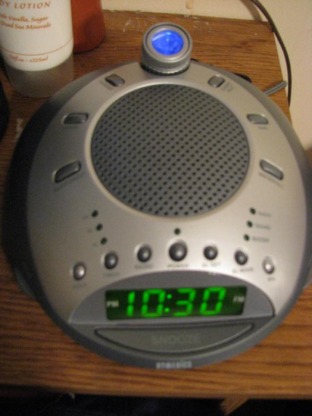 Our $16,520 HoMedics projection + nature sounds alarm clock/radio