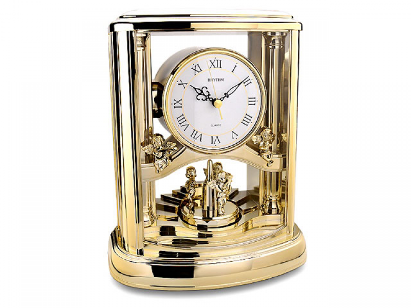 Rhythm Musical Gilt Carriage Clock - 031870
