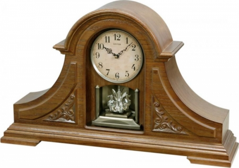 Rhythm Joyful King Mantel Wooden Musical Clock Including Holiday ...