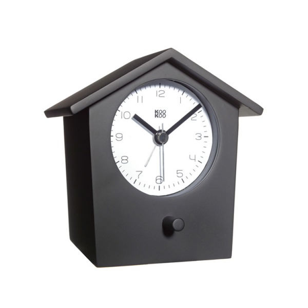 ... Home Home Accessories Fun & Useful Bird Song Alarm Clock - Black Wood