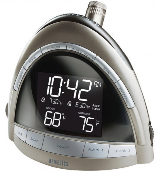 Homedics Sound Spa Sleep Six Nature Sounds Time Temp Projection Clock ...