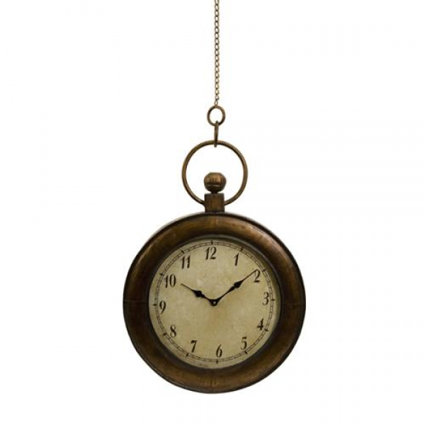Antique-Style Oversized Pocket Watch Hanging Wall Clock 45 - Walmart ...