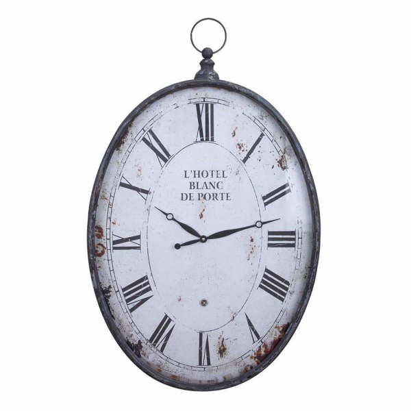Aspire L'hotel Pocket Watch Style Wall Clock, Rustic Gray - 53306 ...