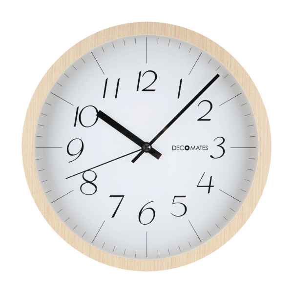 Decomates Home Kitchen Non Ticking Silent Wall Clock Modern Wooden ...