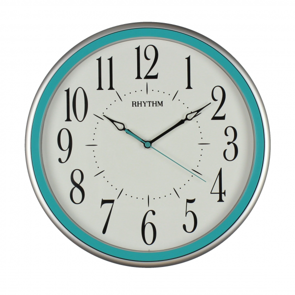 Modern Turquoise Rhythm Wall Clock - Silent Movement