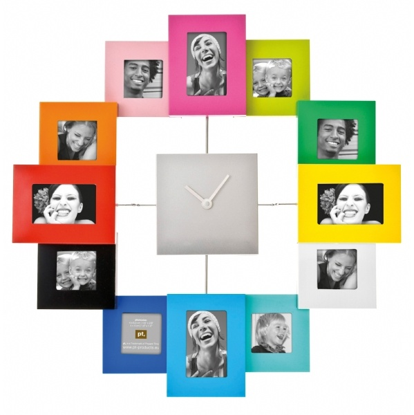 Colourful family photo frame clock | Picture Picture | Pinterest