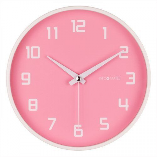 DecoMates Non-Ticking Silent Wall Clock - Fruity Watermelon (Pink) by ...