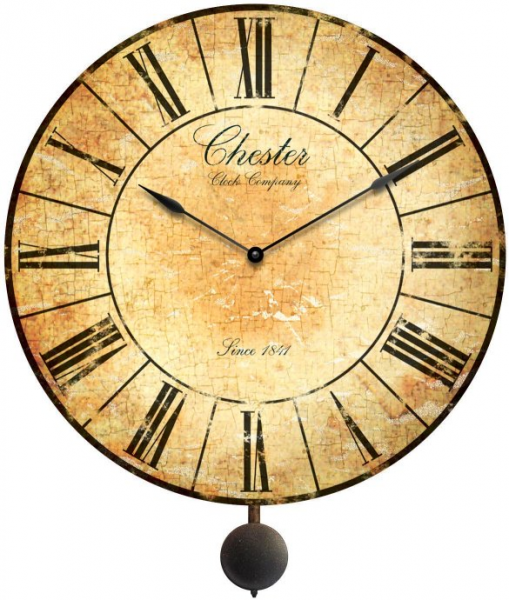 chester pendulum wall clock decorative antiqued chester wall clock ...
