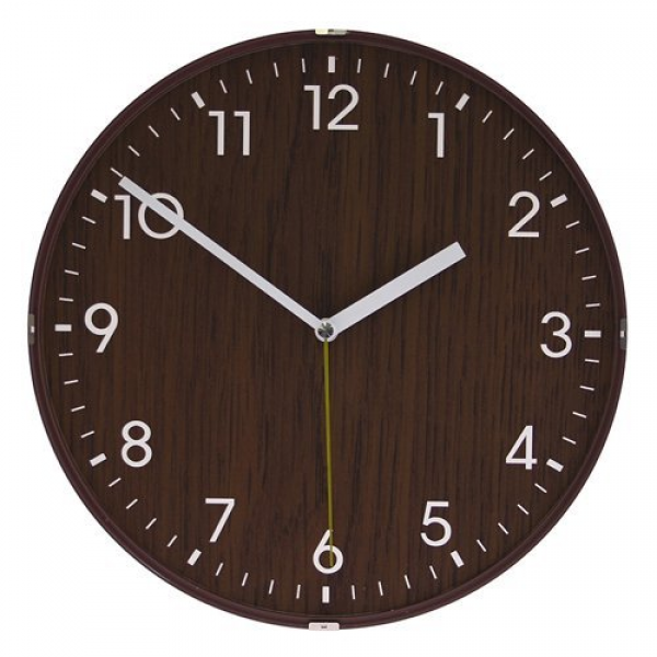 Dome Wooden Non-ticking Silent Wall Clock Brown by SenyxDirect ...