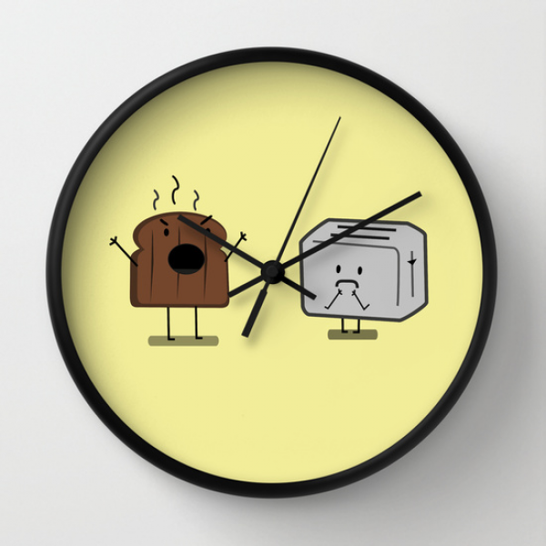 Toast and toaster (version 2) Wall Clock
