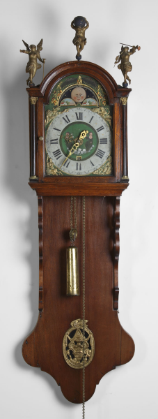 Early Dutch Hooded Wall Clock | Cottone Auctions