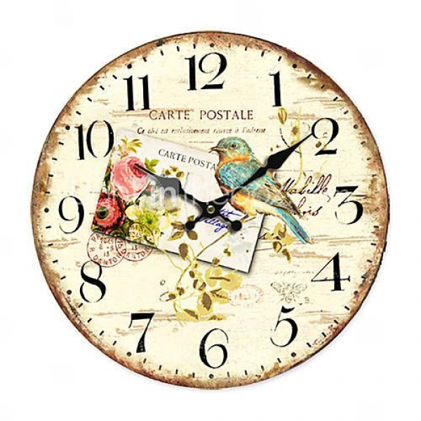 carte postale Country Floral Wall Clock