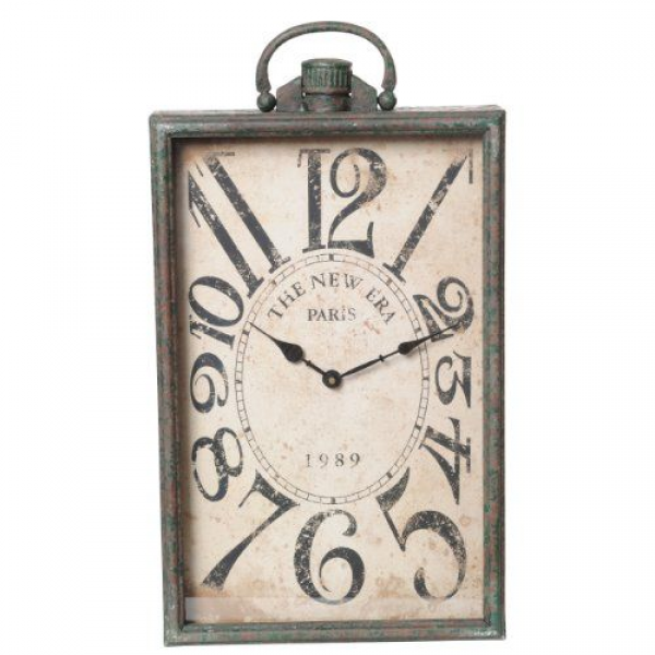 78.23 Wilco Imports Rectangle Stop Watch Design Wall Clock, 12-1/2 ...