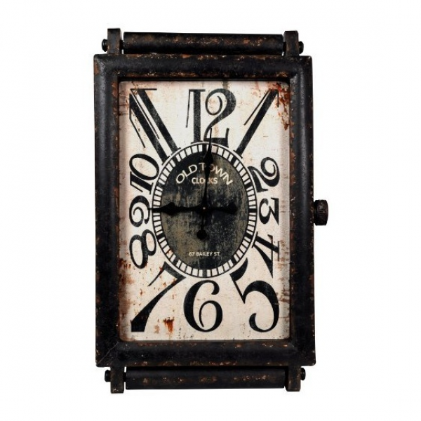 Wilco Imports Rectangle Metal Wall Clock, 23-1/4-Inch by 3-1/2-Inch by ...