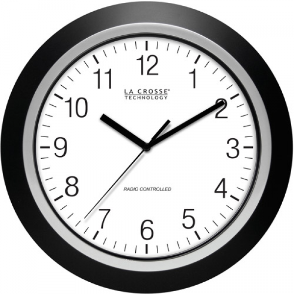 La Crosse Technology 13.5 Analog Atomic Clock, Black - Walmart.com