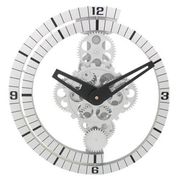 Maples Clock GCL06-37 Moving Gear Wall Clock with Spiral Bezel ...