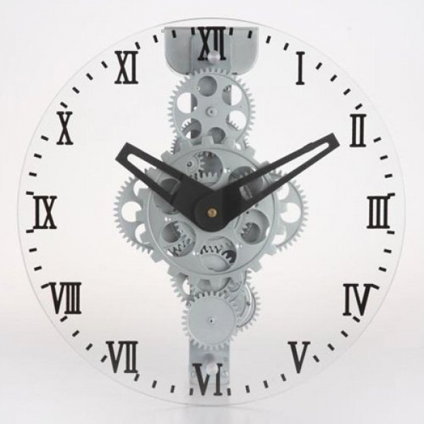 Maples Sales Moving-gear Wall Clock with Glass Cover - 12 diam. in.