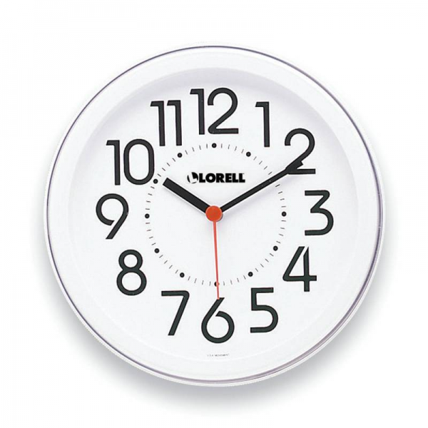 Educational Clocks - 1333521 - Lorell Wall Clock 9 Arabic Numerals ...