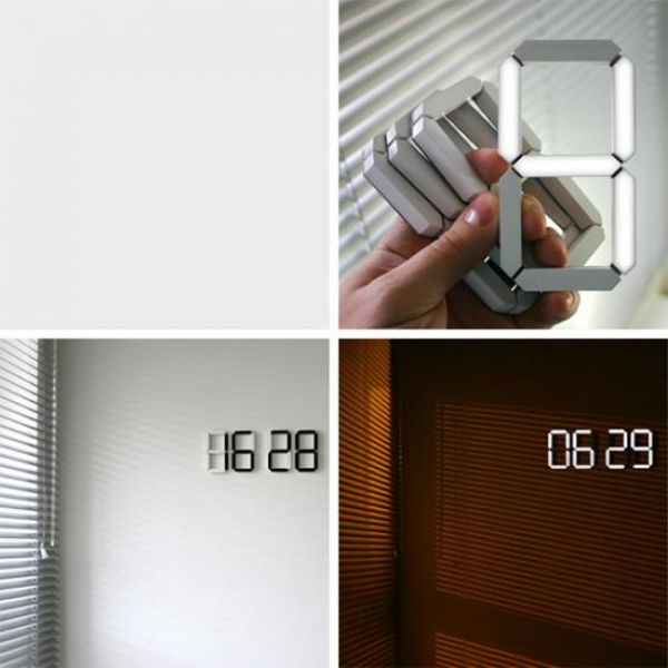 ... White' digital wall clock | Designbuzz : Design ideas and concepts
