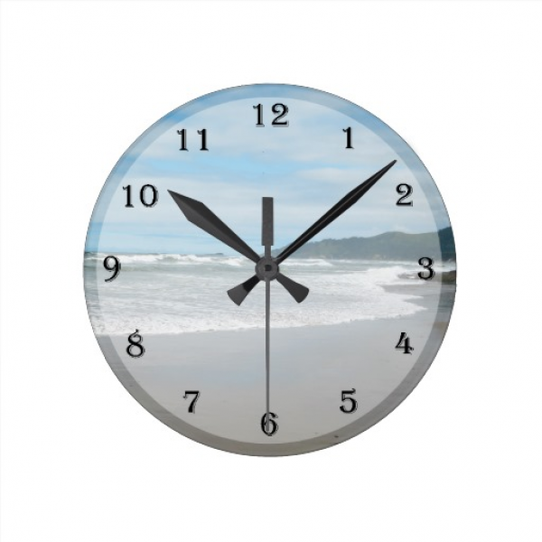 Beach Themed Wall Clock | Zazzle